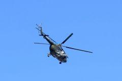 Přelet vrtulníku Mil Mi-171 z 22. základny vrtulníkového letectva z Náměště nad Oslavou. Foto: Milan Krčmář
